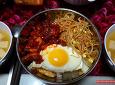 쉽게 만드는 고추장 오징어볶음 콩나물 비빔밥.