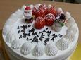 크리스마스를 위해 만든 딸기생크림케이크
