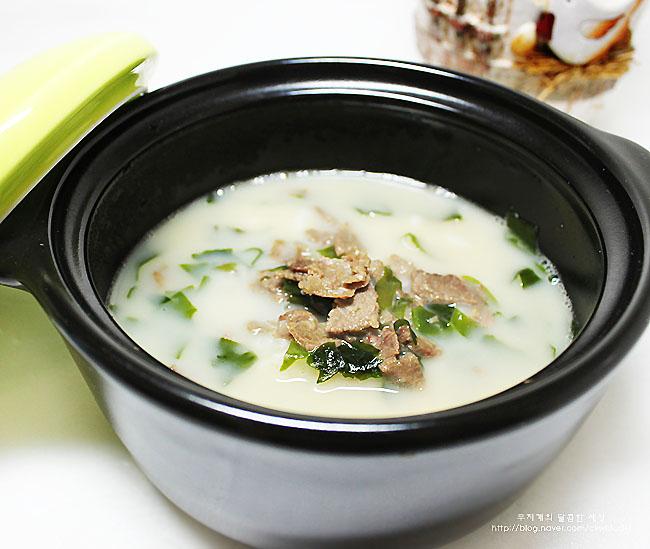 [이유식후기/유아식] 아가들의 여름 보양식! 한우 사골미역국밥