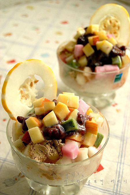 여름 간식~/과일 팥빙수~